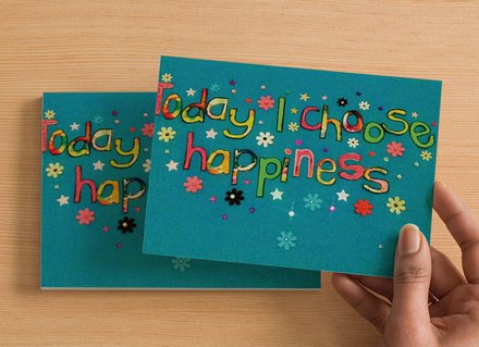 10 A6 size Postcards - Today I choose happiness