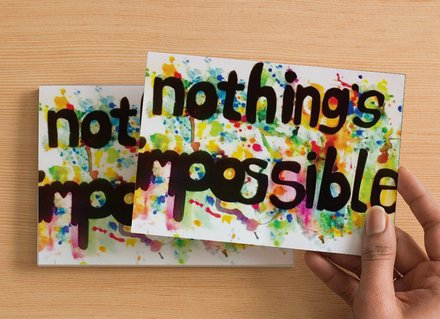 10 A6 size Postcards - nothing's impossible