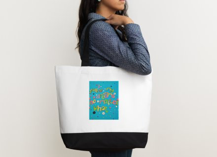 Shoulder bag - Positive affirmation-I follow my dreams no matter what