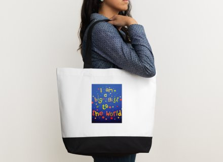 Shoulder bag - Positive affirmation - I am a big gift to the world