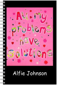 Notebook - Personalised - A5 Size - All my problems have solutions