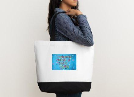Shoulder bag - Positive affirmation - I adopt the mindset to praise myself
