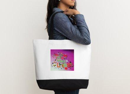Shoulder bag - Positive affirmation - I deserve only good things