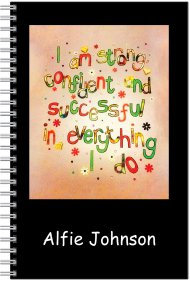 Notebook-Personalised-A5 Size- Strong, confident & successful in everything I do