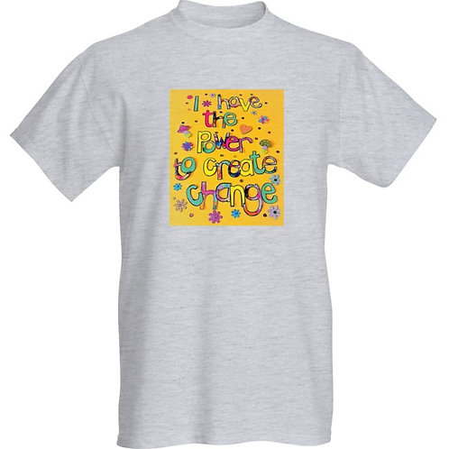 Comfy Unisex Slouch Style Tee Shirt - I have the power to create change-Yellow