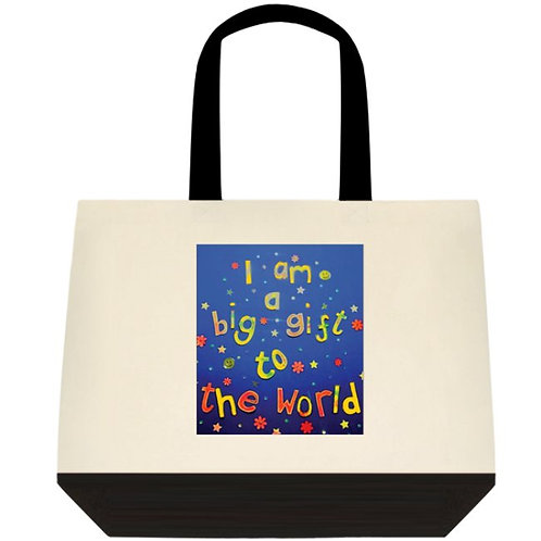 Tote bag - Positive affirmation - I am a big gift to the world
