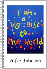 Notebook - Personalised - A5 Size - I am a big gift to the world