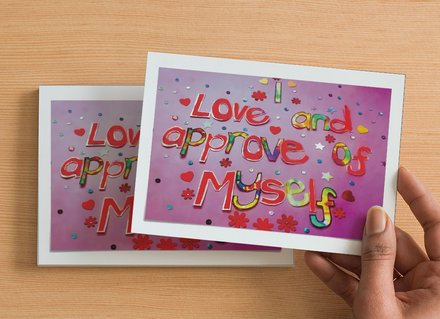 10 A6 size Postcards - I love and approve of myself