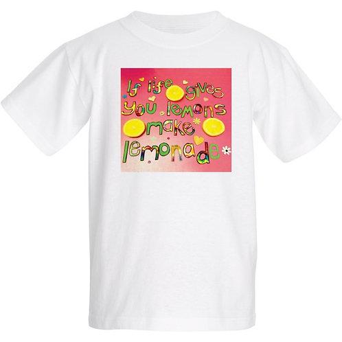 Kids T Shirt - Positive affirmation - If life gives you lemons