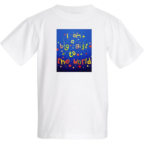 Kids T Shirt - Positive affirmation - I am a big gift to the world