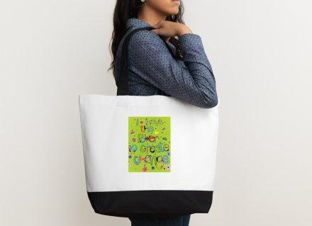 Shoulder bag - Positive affirmation - I have the power to create change