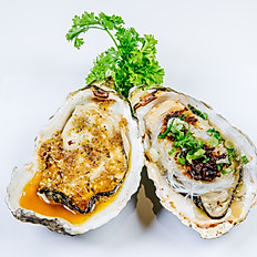 Fresh Oyster / Chinese Style House Specials (2pcs) 新鲜现烤生蚝/中式风味