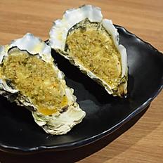 Fresh Oyster / Garlic Lemon Sauce (2pcs) 新鲜现烤生蚝/蒜香柠檬