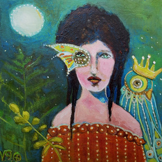 Luna Faery with Quirky Bird