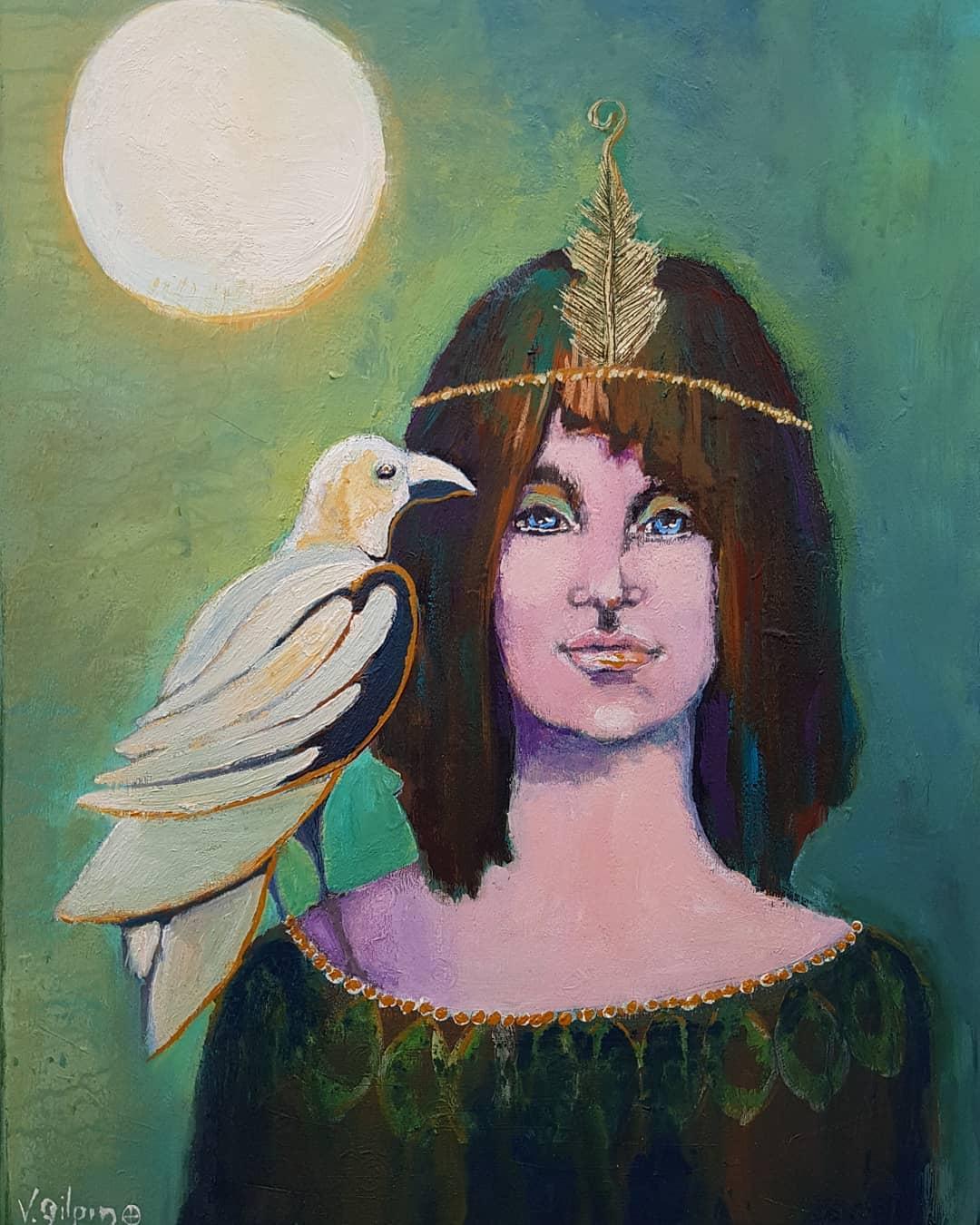 Moon Raven Goddess