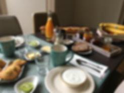 la maison saint aignan - petit déjeuner