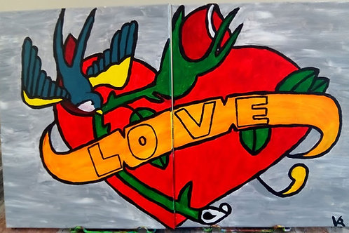 Inked in Love (Double Canvas)