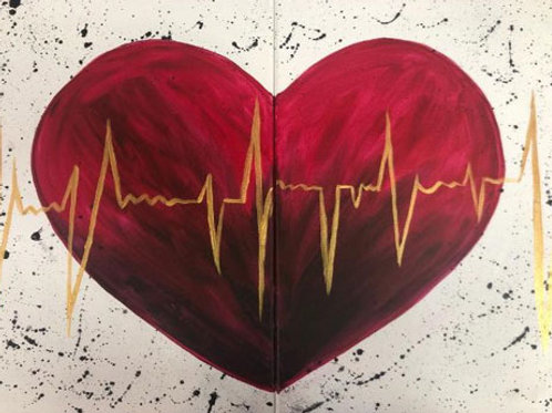Heart Beat (Double Canvas)