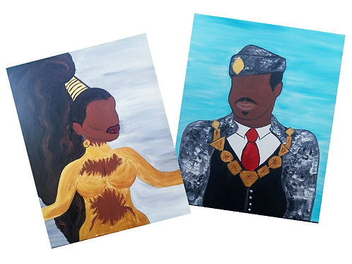Coming to America (Double Canvas)