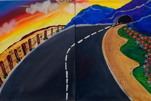 Winding Roads (Double Canvas)