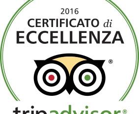 Certificato di eccellenza su TripAdvisor
