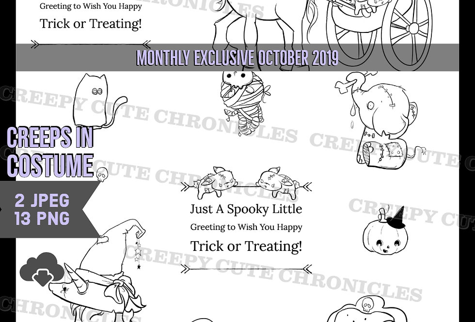 MONTHLY EXCLUSIVE OCTOBER 2019 Creepy Cute Chronicles