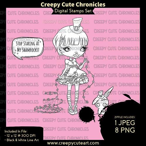 CCC# 143 ST PATRICKS DAY DIGI STAMP Creepy Cute Chronicl