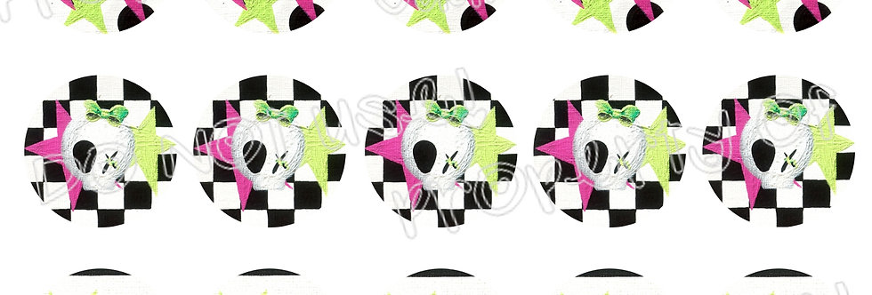Bottlecap Images Digital Collage Sheet 1 Inch Circles ~ Kiss My Skulls