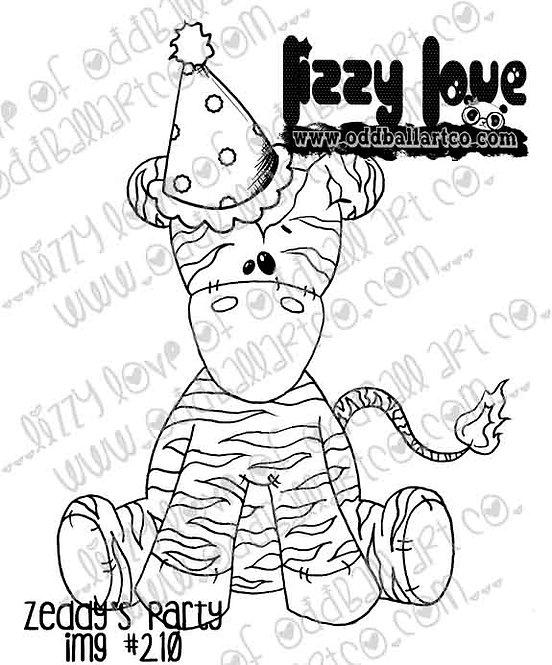 Digital Stamp Whimsical Birthday Zeddy the Zebra Zeddys Party Image No. 210