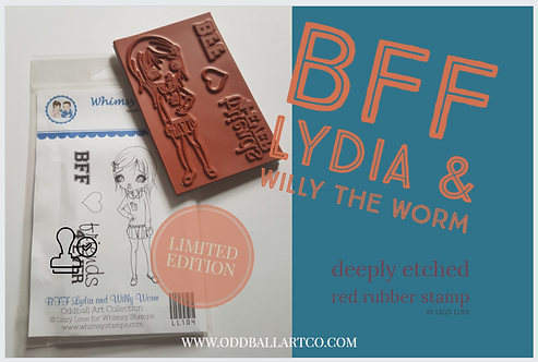 Rubber Stamp Limited Edition BFF Lydia & Willy the Worm
