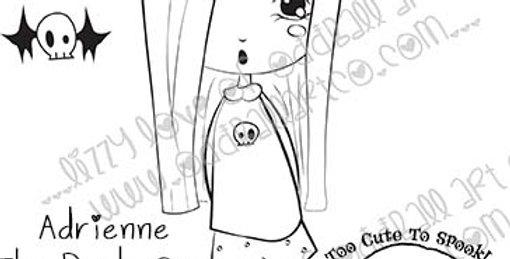 Digi Stamp Adrienne The Dark One Creepy Cute Printable Stamp Set Image No 450