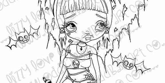 Digital Stamp Creepy Cute Fairy Girl Jasmyn Image No. 67