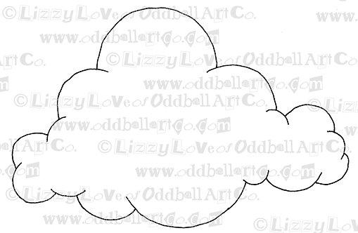 Digital Stamp Cute Puffy Cloud Image No. 57