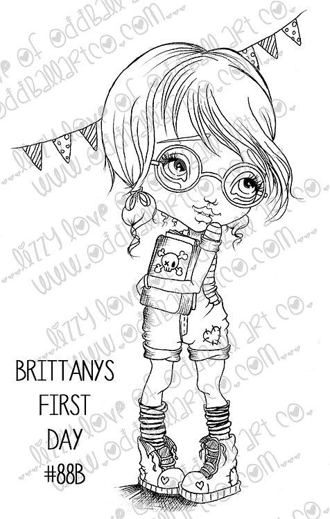 Digi Stamp Big Eye Back To School Geek Girl Image No. 88