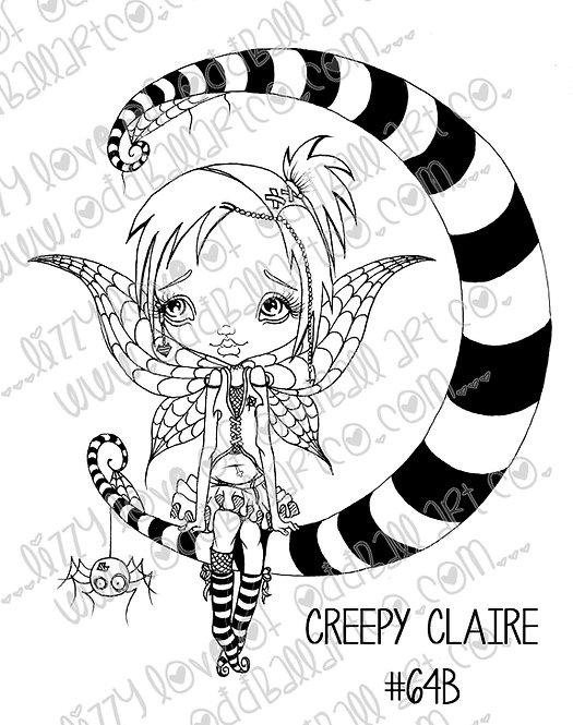 Digital Stamp Big Eye Creepy Cute Fairy Girl Creepy Clair Image No. 64