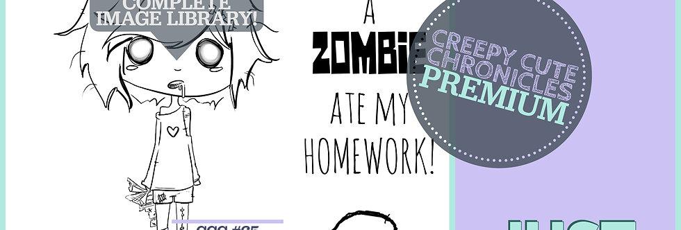 CCC# 65 ZOMBIE ATE MY HOMEWORK Creepy Cute Chronicles