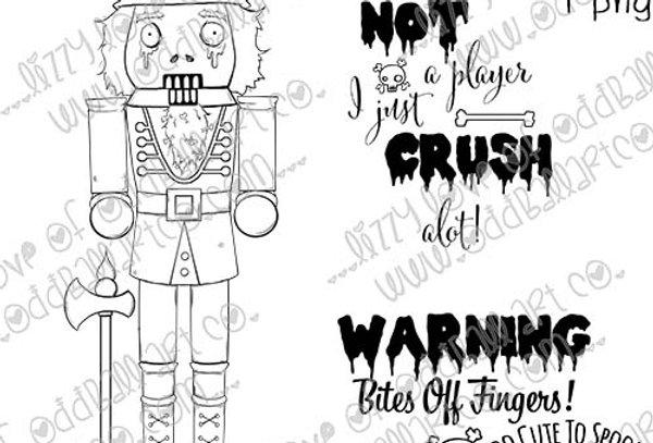 Digi Stamp Creepy Cute Zombie Nutcracker Oscar the Finger Cracker Image No. 494