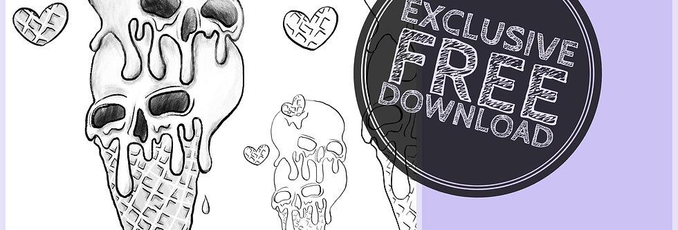 CCC# 56 SKULL CONE & HEART Creepy Cute Chronicles