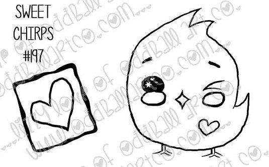 Printable Stamp Sweet Chirps Digital Download Image No 197