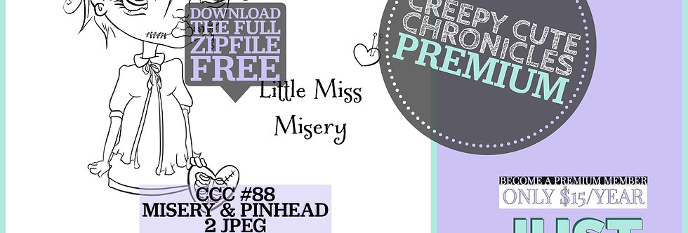 CCC# 88 MISERY & PINHEAD Creepy Cute Chronicles