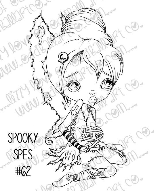 Digital Stamp Big Eye Creepy Cute Fairy Girl Spooky Spes Image No. 62
