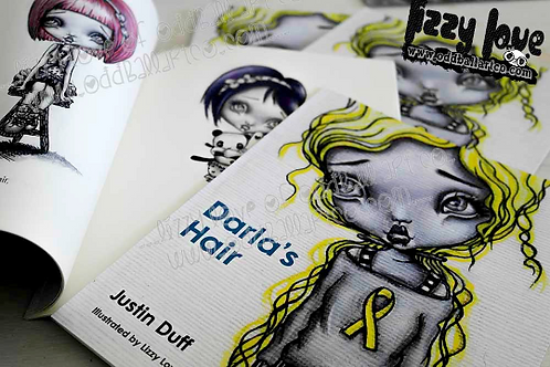 Children's Illustrated Soft Cover Story Book ~ Darla's Hair by Justin Duff