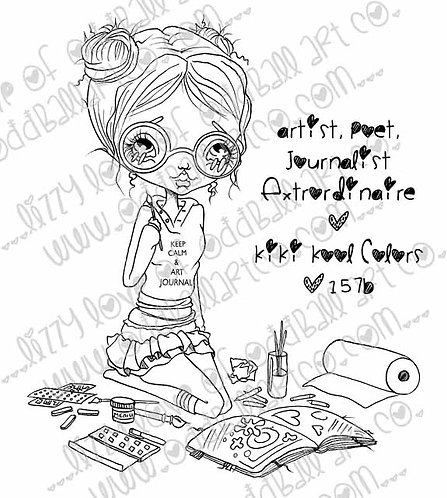 Digital Stamp Artist Extraordinaire Kiki Kool Colors Image No. 157