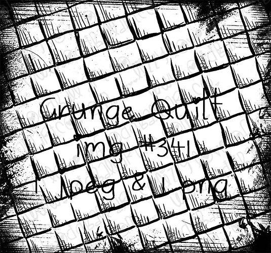 Digital Stamp Quilted Pattern Background Grunge Quilt Image No.341