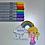 Thumbnail: CCC# 148 RAINBOWS DIGI STAMP Creepy Cute Chronicles
