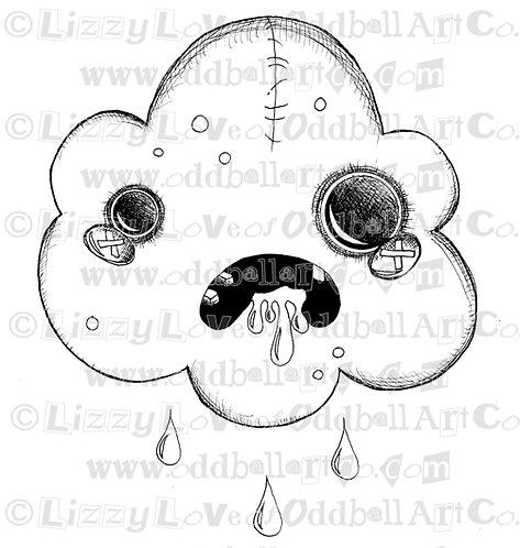 Digital Stamp Creepy Cute Zombie Cloud Image No. 63