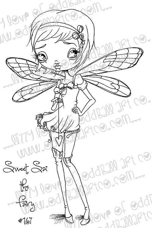 Digital Stamp Big Eye Fairy Art Sweet Sai the Fairy Image No.167