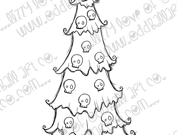 Digi Stamp Creepy Cute Christmas Creepmas Tree Image No. 487