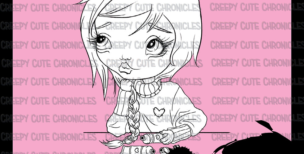 CCC# 138 ART YOUR HEART OUT DIGI STAMP Creepy Cute Chronicles