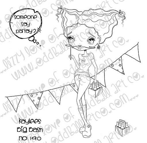 Digi Stamp Big Eye Party Girl Kaylees Big Bash Image No 190
